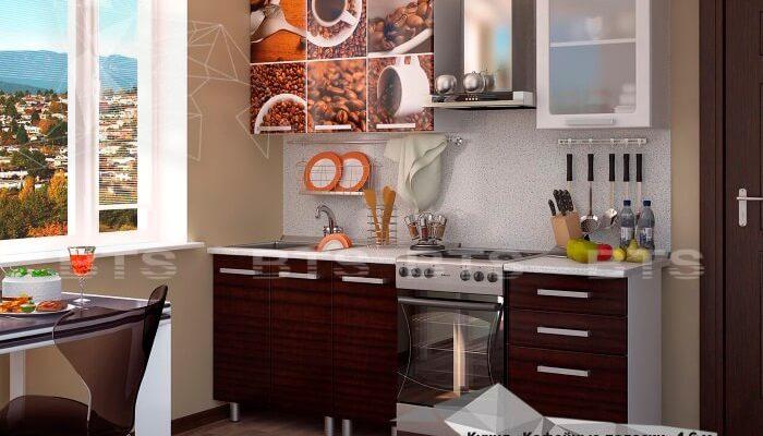 кухонный гарнитур - Кофейные полоски