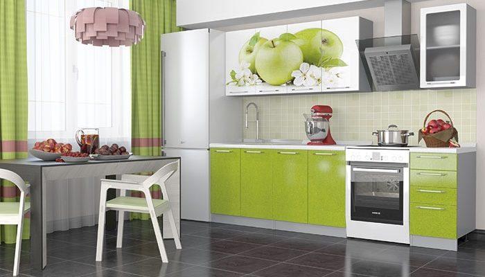 кухонный гарнитур - София — 60 (Зеленые яблоки)